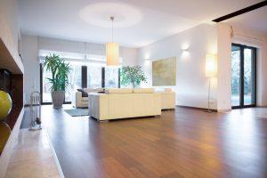 Wohnraum mit neuem Boden